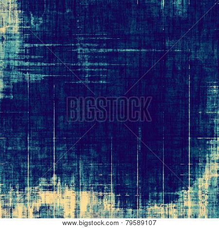 Old abstract texture with grunge stains. With different color patterns: cyan; blue; yellow (beige)
