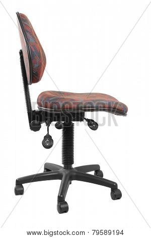 Old office chair isolated on plain background