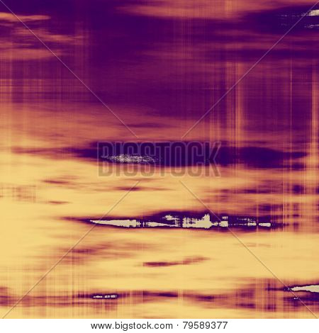Rough grunge texture. With different color patterns: yellow; purple (violet); brown