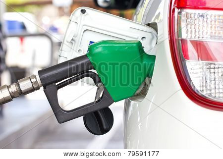 Car With A Gas Pump.