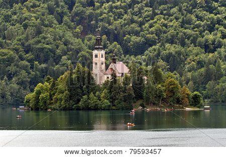 Bled church on island, Slovenia
