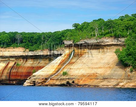 Pictured Rocks Bridalveil Falls Michigan