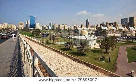 Modern city of Sharjah.