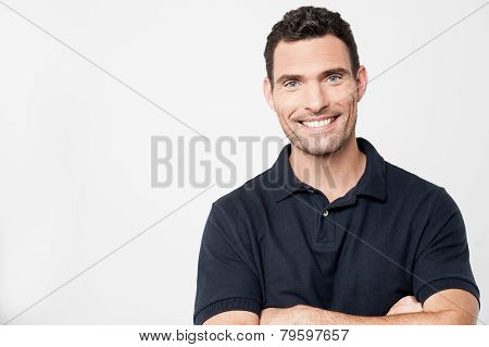 Casual Young Man Looking At Camera