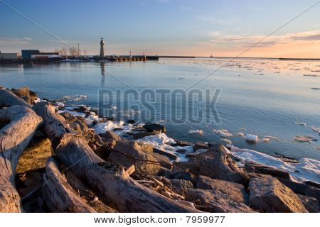 Buffalo Harbor on Lake Erie