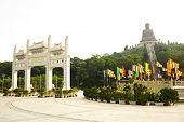 foto of lantau island  - Giant bronze Buddha statue in Hong Kong - JPG