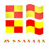 picture of offside  - Set of football offside flags eps 10 - JPG