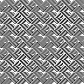 picture of trapezoid  - Black and white geometric stripe seamless pattern abstract background vector eps10 - JPG