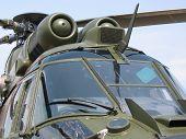 Постер, плакат: Авиация военный вертолет крупным планом