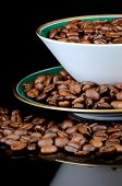 pic of coffee coffee plant  - Still life of coffee coffee cup with coffee beans