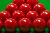 stock photo of snooker  - snooker balls set on a green table - JPG