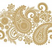 stock photo of teardrop  - Seamless pattern based on traditional Asian elements Paisley - JPG
