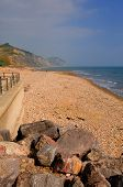 image of shingles  - Charmouth beach Dorset England UK with pebbles and shingle and coas - JPG