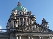 stock photo of city hall  - Belfast City Hall is the civic building of Belfast City Council. Located in Donegall Square, Belfast, County Antrim, Northern Ireland.