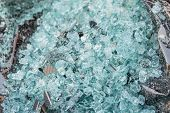 picture of temperance  - Shattered glass of back tempered window of a car - JPG