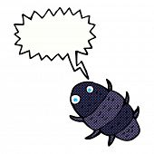 picture of woodlouse  - cartoon bug with speech bubble - JPG