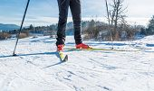 foto of nordic skiing  - Cross country skiing - JPG