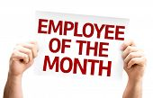 stock photo of employee month  - Employee of the Month card isolated on white background - JPG
