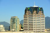 stock photo of hydro  - BC Hydro Centre and Vancouver skyline - JPG