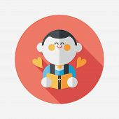 picture of priest  - Wedding Priest Flat Icon With Long Shadow - JPG