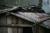 image of firehouse  - This is a firehouse built by Yurok Indians - JPG