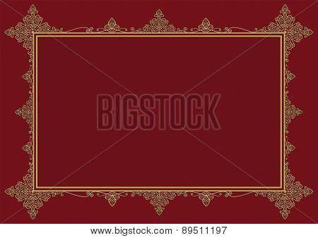 Burgundy Vintage Frame