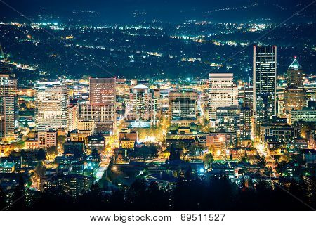 City Of Portland Night Scenery