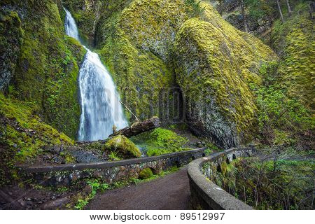 Scenic Oregon Waterfall
