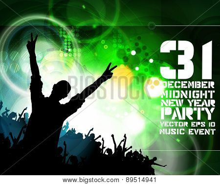 People dancing background party, vector