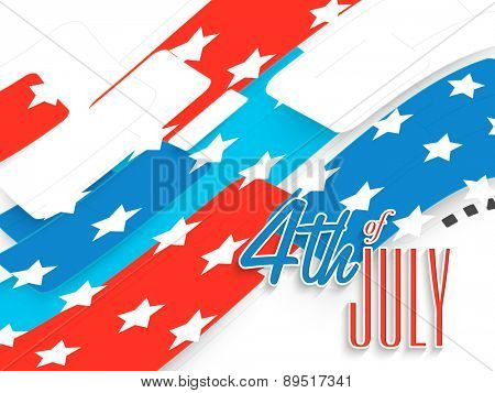 Creative national flag color abstract design for 4th of July, American Independence Day celebration.