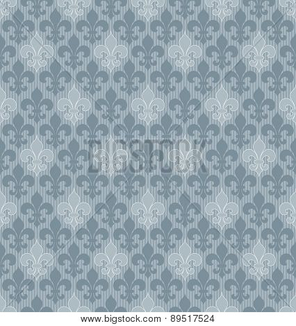 Fleur-de-lis seamless wallpaper. Vector EPS10.