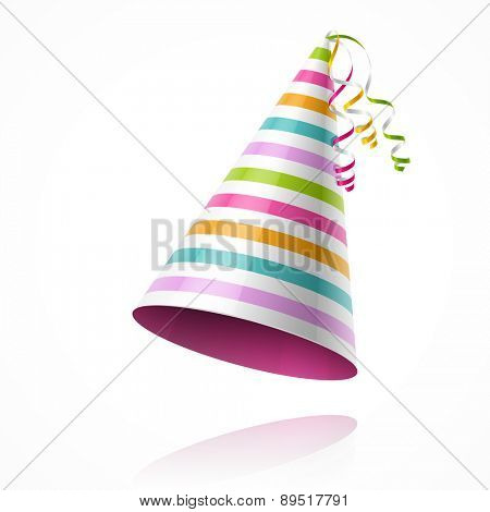 Colorful party hat. Vector.