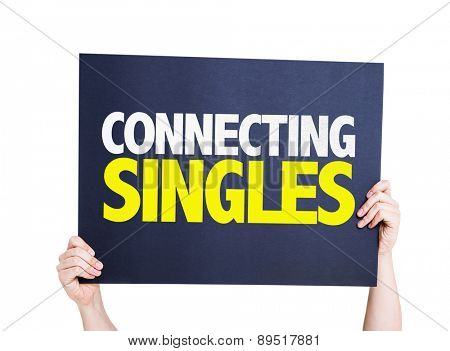 Connecting Singles card isolated on white