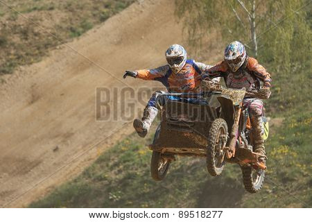 Gymnastics On Sidecar In Jump