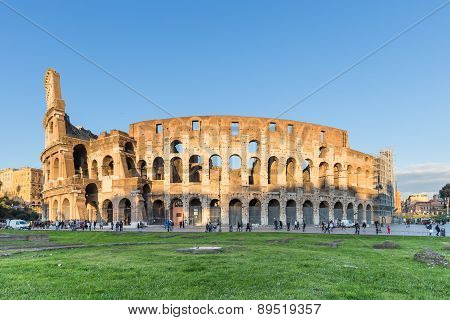 Sunset at Colosseum In Rome, Italy
