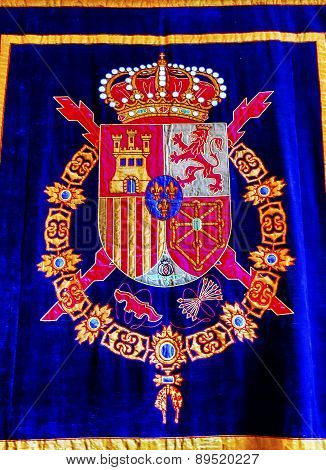 Royal Crest Tapestry Madrid Spain