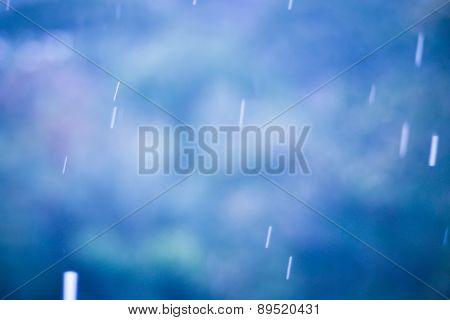 Rainy Season Background With Vintage Color Tone