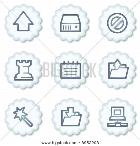 Data Web Icons, White Buttons