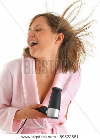 Woman With Hair-drier