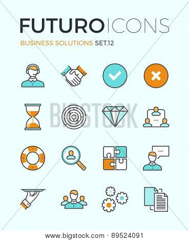 Business Solutions Futuro Line Icons