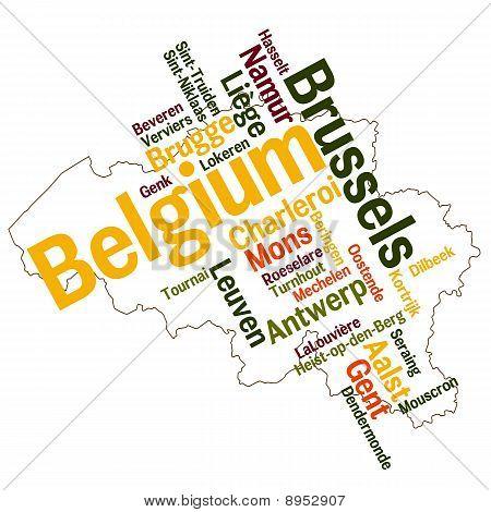 Belgium Map And Cities