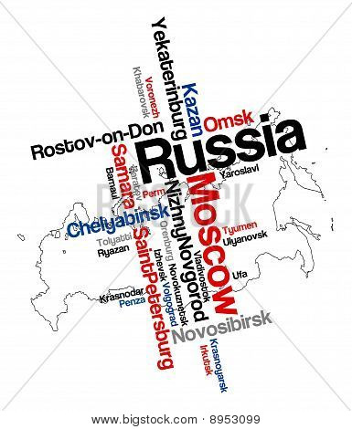 Russia Map And Cities