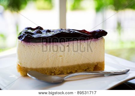 Cheese cake is On A Plate