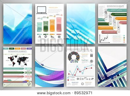 Infographic Templates And Abstract Creative Backgrounds