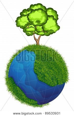 Globe And Tree