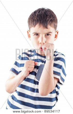 Boy Is Ready To Fight With Fists