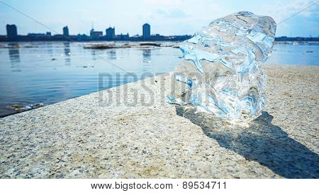 Part of an ice floe.