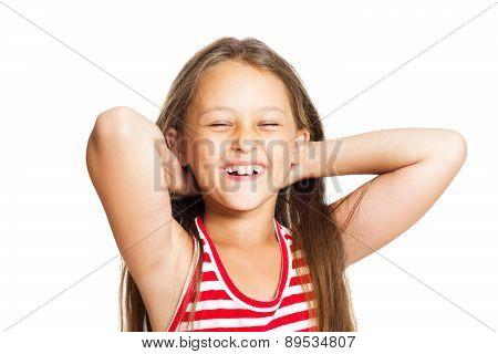 Girl Straightens Her Hair I