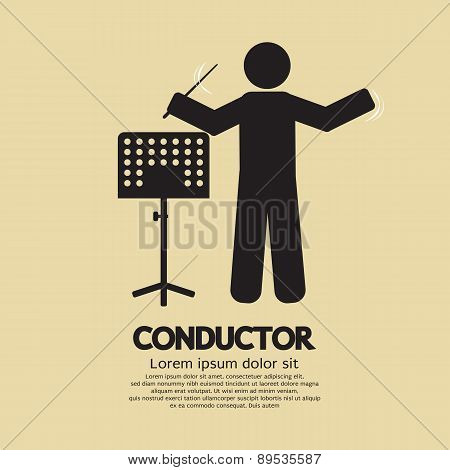Conductor With Music Stand Symbol.