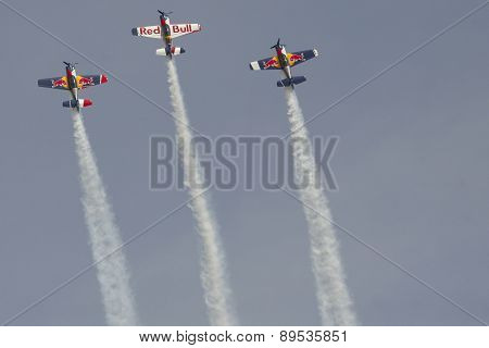Budapest Air Show Over Danube River
